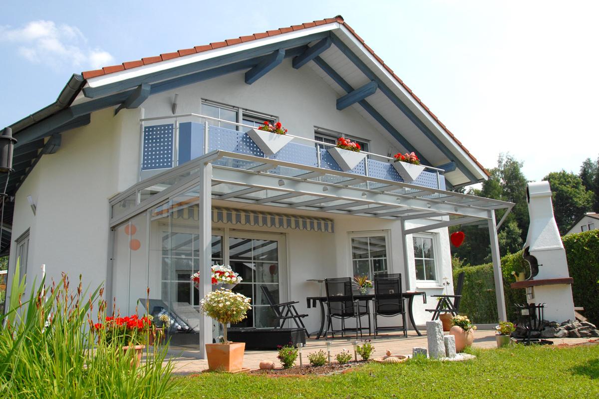 Terrassenuberdachung Mit Seitenwand ~ Gast stahlbau